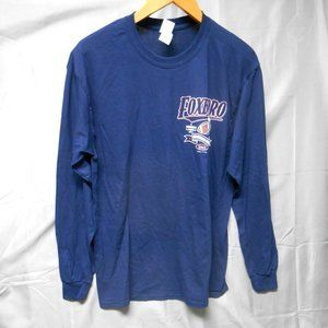 NWOT Gildan Foxboro football smack blue t-shirt L